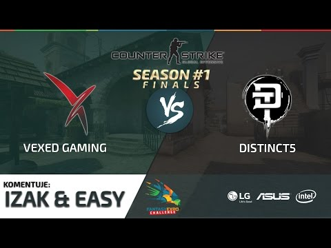 FEC #1 FINAŁ [CS:GO] – Vexed Gaming vs Distinct5 - Mecz 1