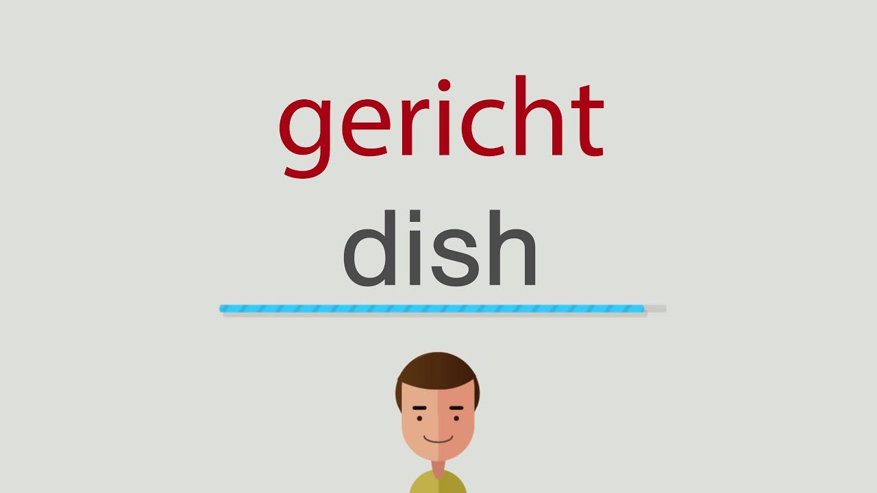 Gericht Auf Englisch
