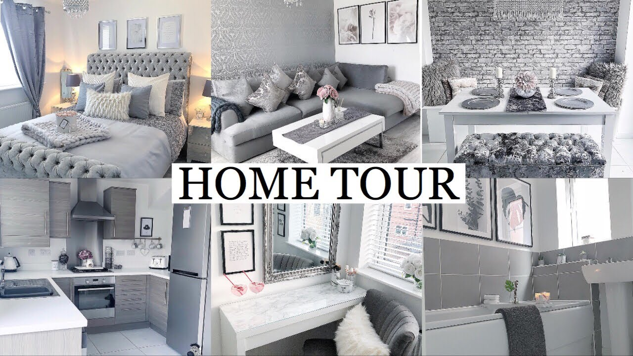 Full House Tour Luxe On A Budget Grey White Blush