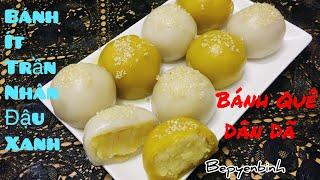 Cách làm bánh ít trần nhân đậu xanh, bánh ít trần chay. Bếp Yên Bình.