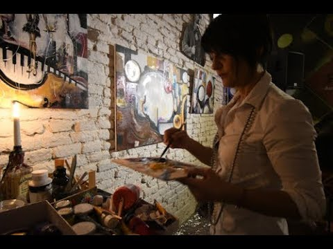 Live Painting Carla Pistola - Jesi Golden Cadillac - Speakeasy - Swing, Drink & Live Painting