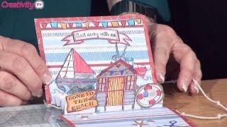 3d Beach Scene Card Tutorial   Docrafts Creativity Tv