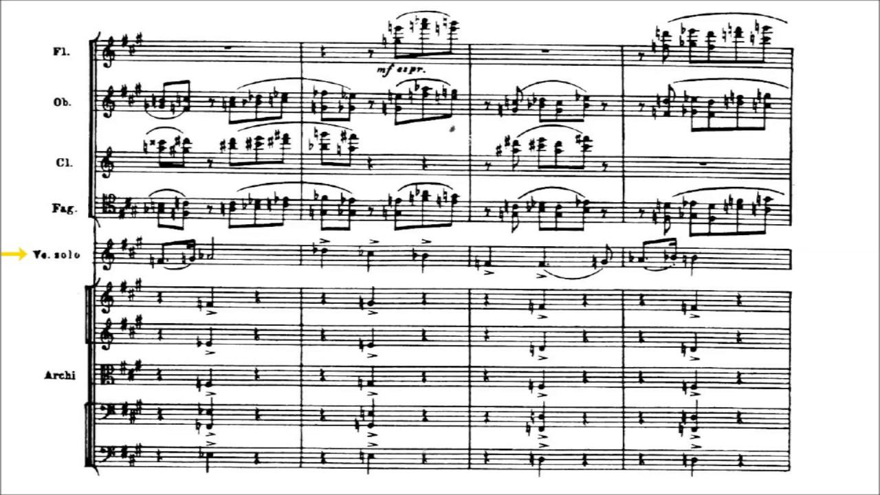 Dmitri Shostakovich - Cello Concerto No  1 [With score]