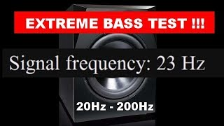 1 Minute Extreme Bass Test Sound - Car Subwoofer Test - Frequency 20Hz to 200Hz