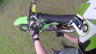 Tricks on how to free a motorcycle clutch that won't disengage: Live demo on KX250