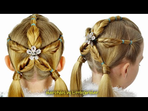 amazing-christmas-snowflake-hairstyle-for-girls- -holiday-hairstyles-by-littlegirlhair❤️