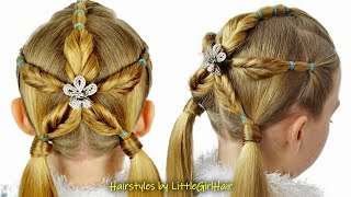 Amazing Christmas Snowflake Hairstyle for Girls | Holiday Hairstyles by LittleGirlHair❤️