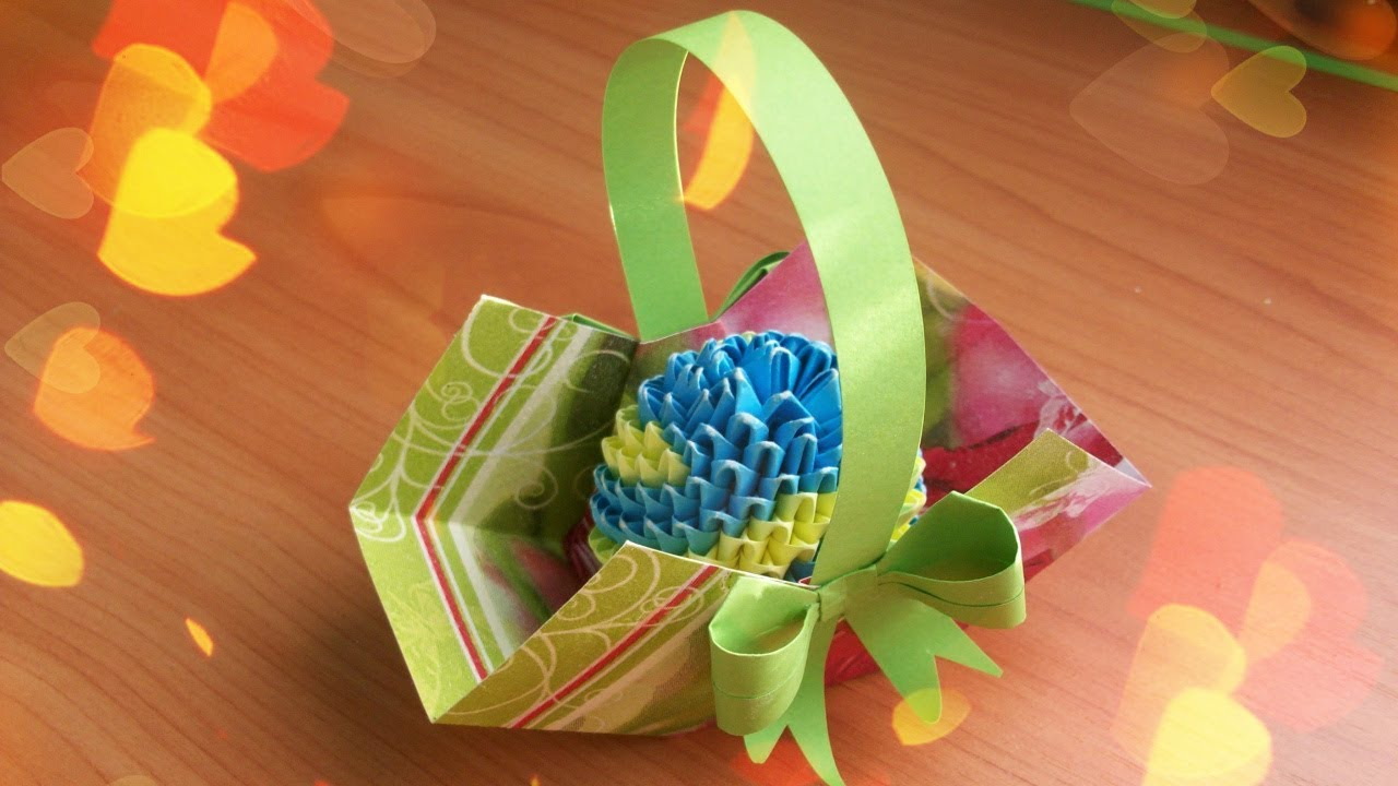 Diy How To Make A Super Easy Easter Basket Ouick Paper Crafts Ideas