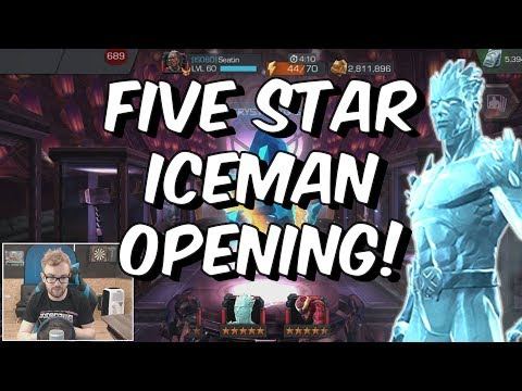Five Star Iceman Crystal Opening - Marvel Contest Of Champions