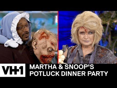 Martha Stewart Brings A Corpse To The Kitchen 'Sneak Peek' | Martha & Snoop's Potluck Dinner Party