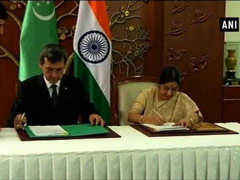 EAM Swaraj, Turkmenistan Deputy PM ink protocol on 6th Intergovernmental Commission - Delhi News