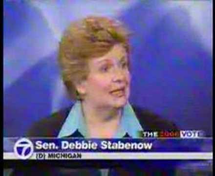 Debbie Stabenow Mike Bouchard Michigan Senate Debate Jobs