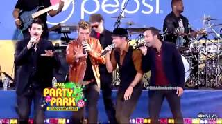 Backstreet Boys -Larger Than Life HD GMA 31-8-12