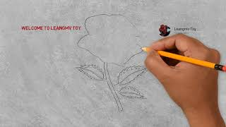 Drawing rose, drawing flower, drawing for kids, coloring for kids
