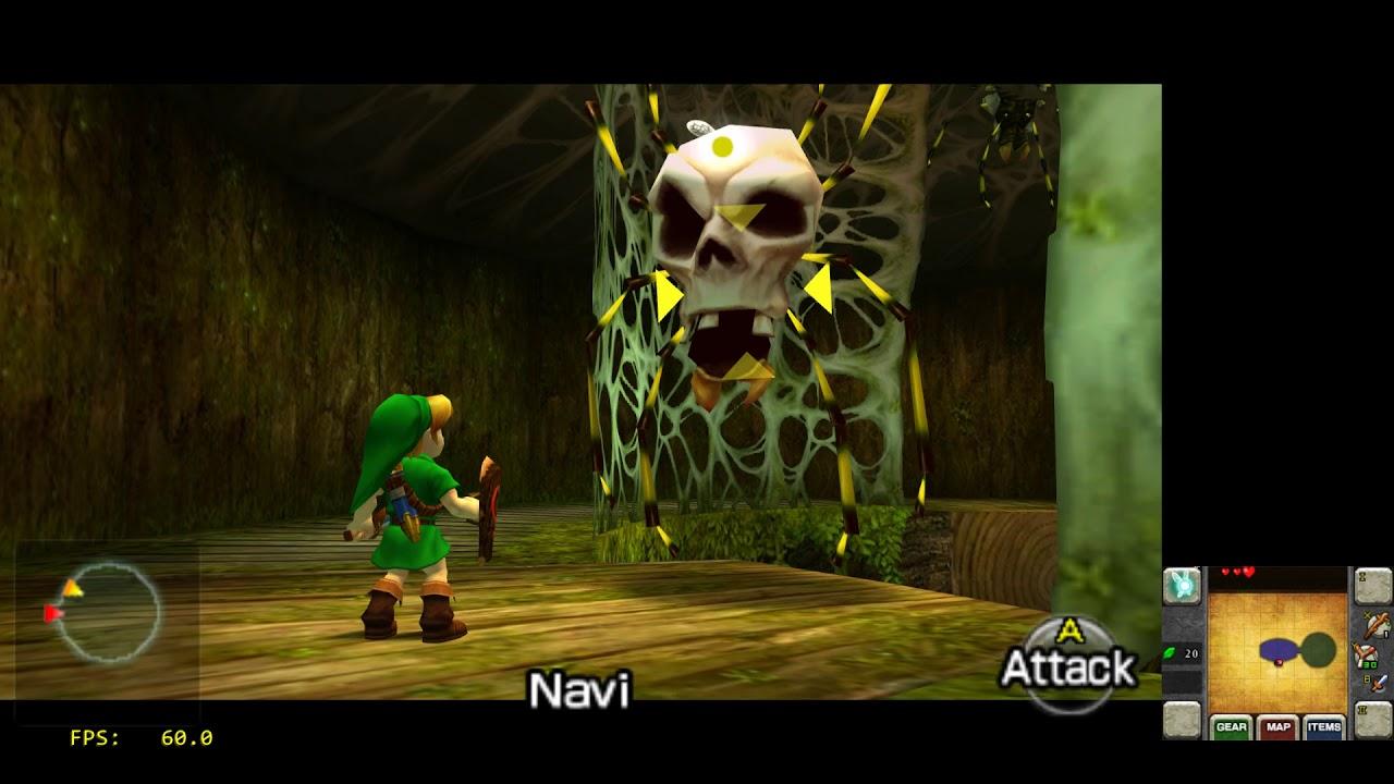 Citra Canary Libretro core - RetroArch - Legend of Zelda 3D Ocarina of Time