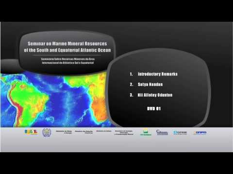 Seminar on Marine Mineral Resources of the South and Equatorial Atlantic Ocean
