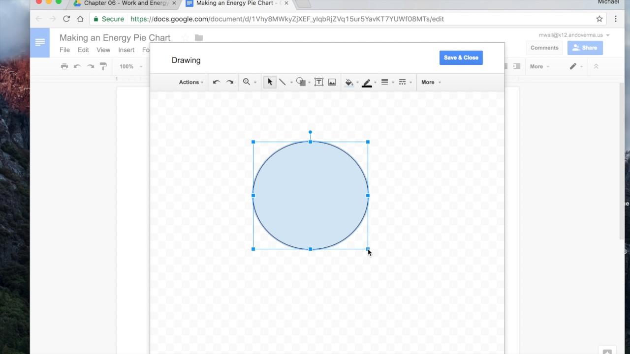 Energy Pie Charts Using Google Docs Youtube