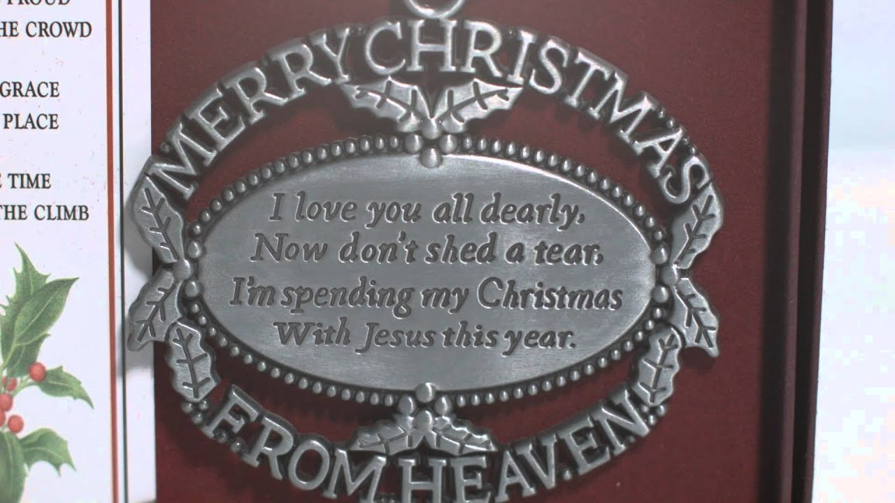 merry christmas from heaven ornament bookmark the catholic company