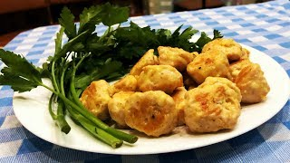 Как приготовить Куриные Шарики с Сыром в духовке. Ленивый ужин просто, быстро и вкусно.