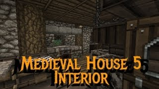 Minecraft Gundahar Tutorials Medieval House 5 Interior YouTube