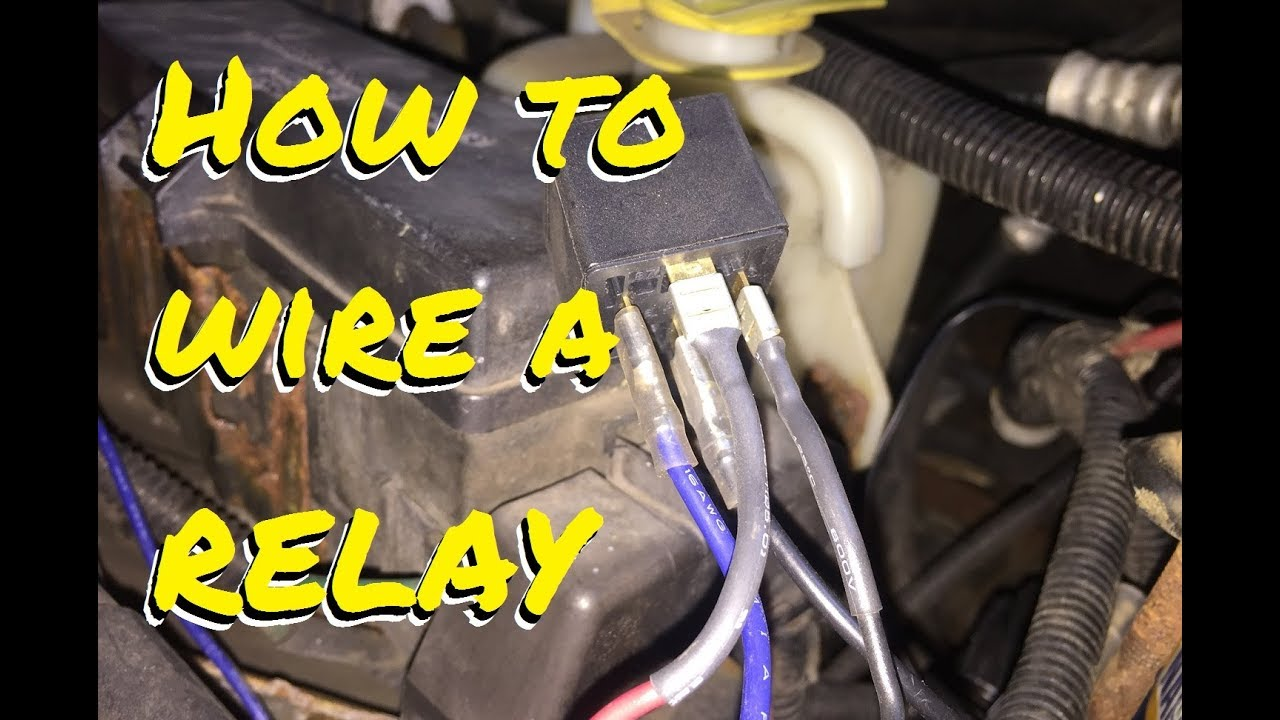 How to WIRE A RELAY to a switched circuit for auxiliary lights Omron Relay Wiring on