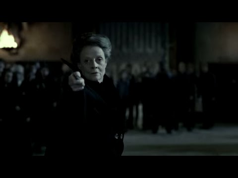 McGonagall battles Snape | Harry Potter and the Deathly Hallows Pt. 2