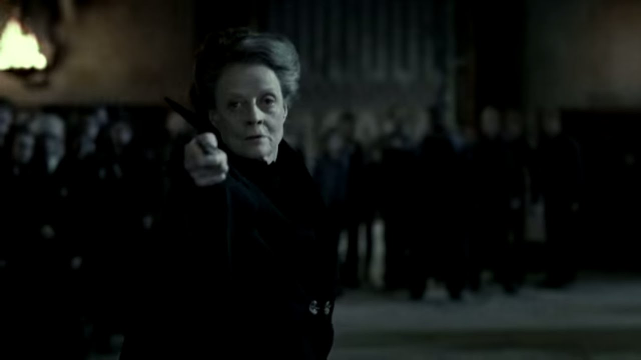 McGonagall battles Snape | Harry Potter and the Deathly Hallows Pt  2