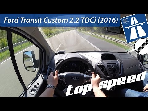 Ford Transit Custom 2.2 TDCi (2016) on German Autobahn - POV Top Speed Drive