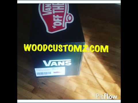 VANS off the wall shoe storage box Must see & VANS off the wall shoe storage box Must see - YouTube