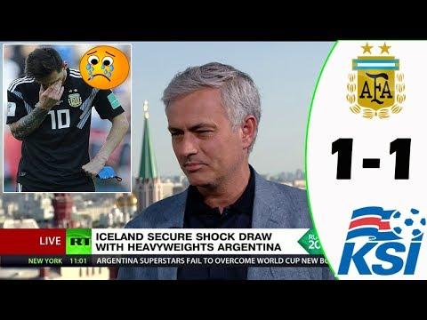 ARGENTINA VS ICELAND 1-1 [POST MATCH ANALYSIS] WITH JOSÉ MOURINHO!