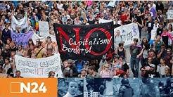 N24 Nachrichten - G20 not welcome - Polizei greift bei Demo ein