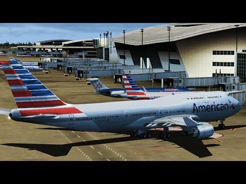 FSX - American Airlines 747 to Dallas/Fort Worth