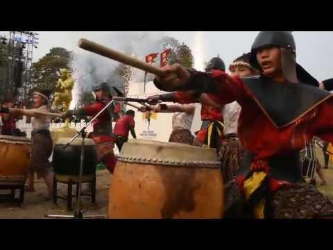 Battle Drumming at Wai Kru Muay Thai Ceremony 2019 in Thailand