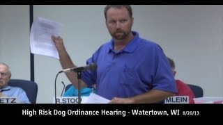 Dog Bite Victim Advocates Speak At High Risk Dog Ordinance Hearing