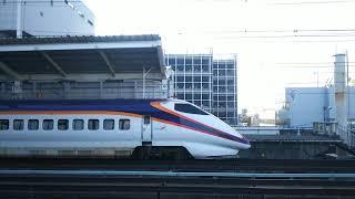 山形新幹線 つばさ141号 新庄行き E3系と東北新幹線 やまびこ141号 仙台行き E2系  2018.10.06