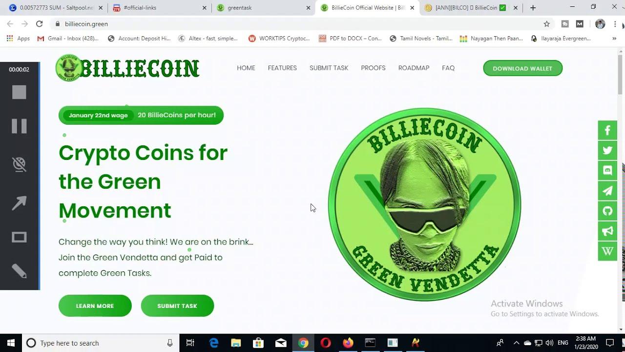 Cryptocoin News 2020 | New Coin Altcoin To Mine 2020 | How to Mine Altcoin Billiecoin sha Algo 6
