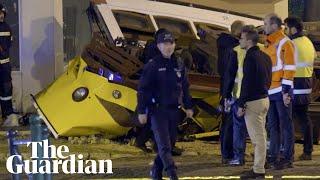 Tram derailment injures dozens in Lisbon