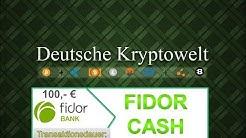 Fidor Bank Bargeld auf Konto in nur 5 Minuten einzahlen mit Fidor Cash und Barzahlen.de!