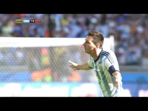FIFA 2014 WC Lionel Messi goal vs Iran 1080i HD