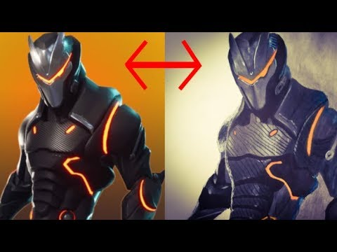 Drawing Of Omega Full Armor Suit Fortnite Season 4 Youtube