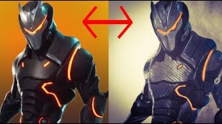 Drawing of OMEGA FULL ARMOR SUIT | Fortnite SEASON 4
