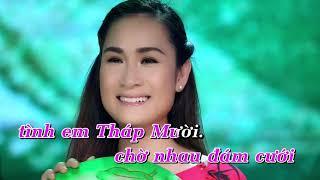 KARAOKE | Tình Em Tháp Mười - Giáng Tiên, Trang Anh Thơ
