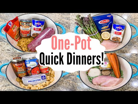 5 TASTY One-Pot Meals   The EASIEST Weeknight Recipes   What's For Dinner?   Julia Pacheco