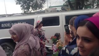 Голубь полетел в прямо в лицо невесте