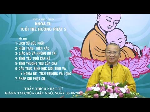 Vấn đáp: Lịch sử Đức Phật, hiến tạng, hiến xác, giấc mơ và dự tri, tình cha, tình yêu tuổi mới lớn, ý nghĩa pháp khí Phật giáo - TT. Thích Nhật Từ