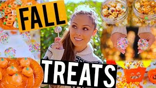 Diy Fall Treats + Snacks! Easy For Halloween Parties Or Movie Nights! | Kristi-anne Beil