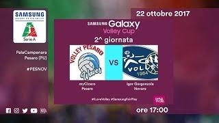 Pesaro - Novara | Highlights | 2^ Giornata | Samsung Galaxy Volley Cup 2017/18