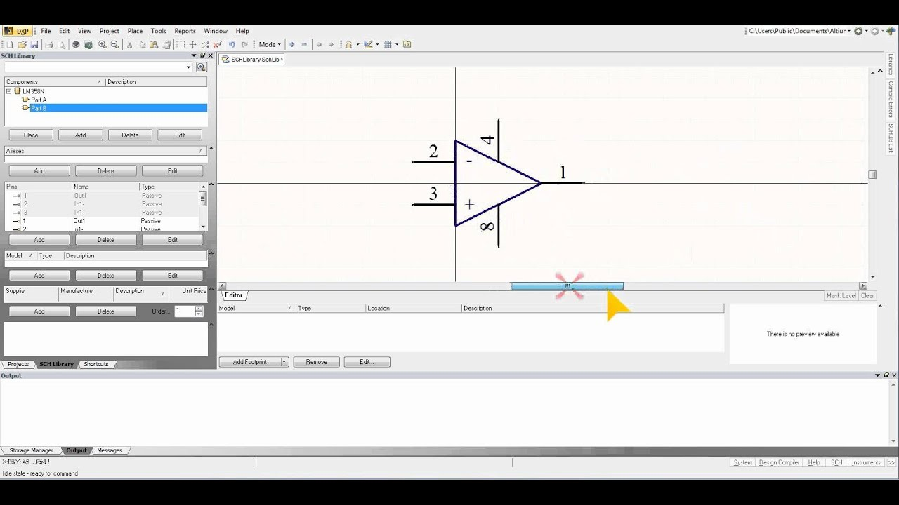 Altium Designer Tutorial 3 Adding A New Part In Multi Noninverting Amplifier Lm358n Page 2 Component