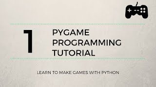 Pygame Tutorial #1 - Basic Movement and Key Presses