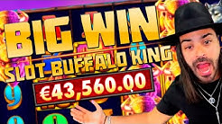 ROSHTEIN - EPIC MOMENTS | BIG WIN IN GAME SLOTS | HUGE WIN IN SLOT BUFFALO KING